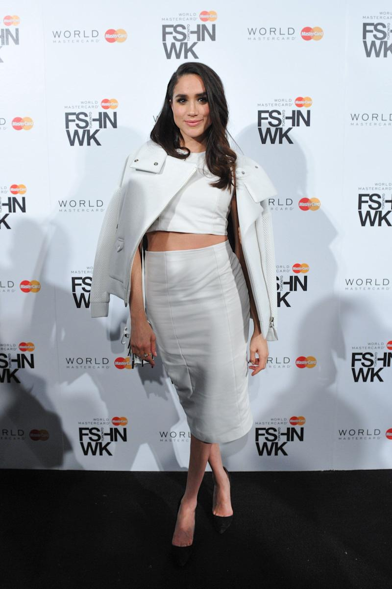 Meghan Markle attends World MasterCard Fashion Week Fall 2015 Collections on March 25, 2015, in Toronto.