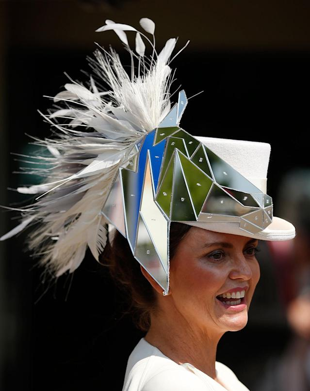 <p>A racegoer at Ascot Racecourse at the Royal Ascot on June 20, 2017. (Matthew Childs/Action Images/Reuters) </p>