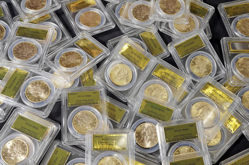 California couple's buried gold coins go for sale