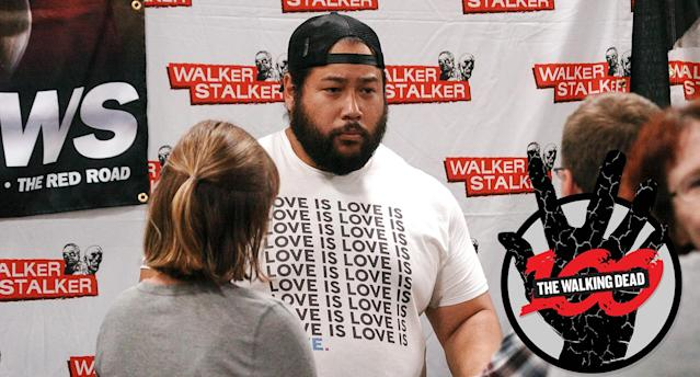 Cooper Andrews at the Walker Stalker Con in Philadelphia, Pa., on Sept. 30, 2017. (Photo: Cory Clark/NurPhoto via Getty Images)
