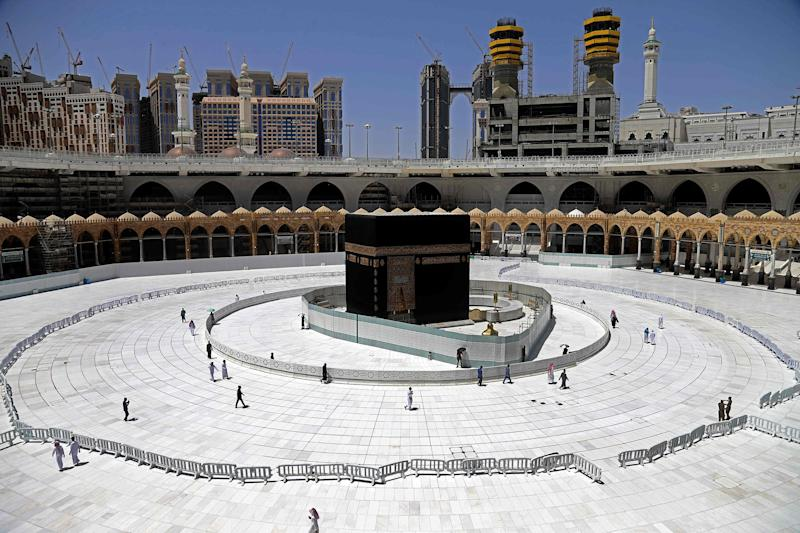 Image: Muslim worshippers circumambulate the sacred Kaaba in Mecca's Grand Mosque, Islam's holiest site, (AFP - Getty Images file)