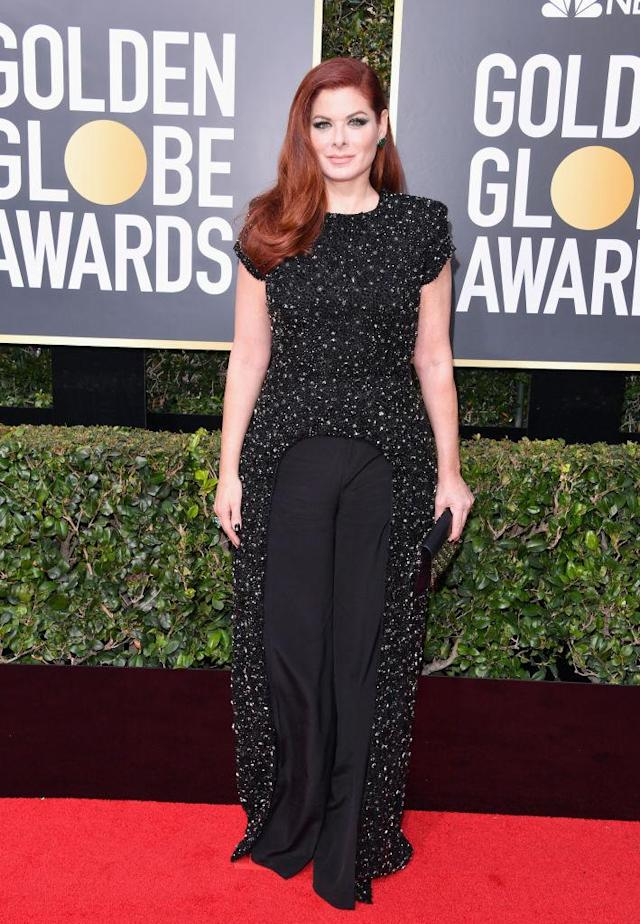 <p>The star of <em>Will & Grace</em> attends the 75th Annual Golden Globe Awards at the Beverly Hilton Hotel in Beverly Hills, Calif., on Jan. 7, 2018. (Photo: George Pimentel/WireImage) </p>