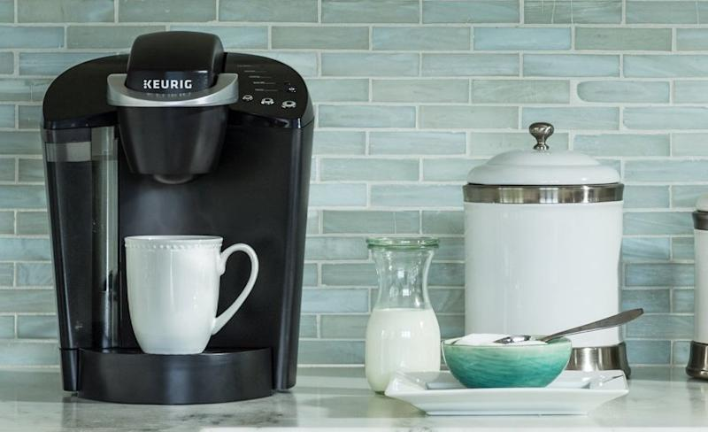 This Keurig K-Classic coffee maker is about to make your mornings a lot easier—and this deal includes 60 coffee pods. (Photo: Amazon)