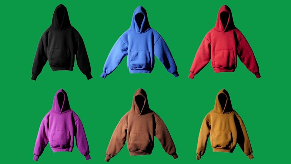 The Yeezy hoodies retail for $90 each. (Photo by Gap)