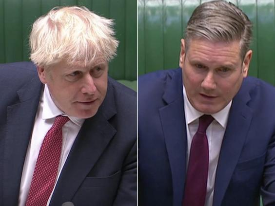 Mr Johnson and Sir Keir clashed on the issue at PMQs on Wednesday (Parliament Live)