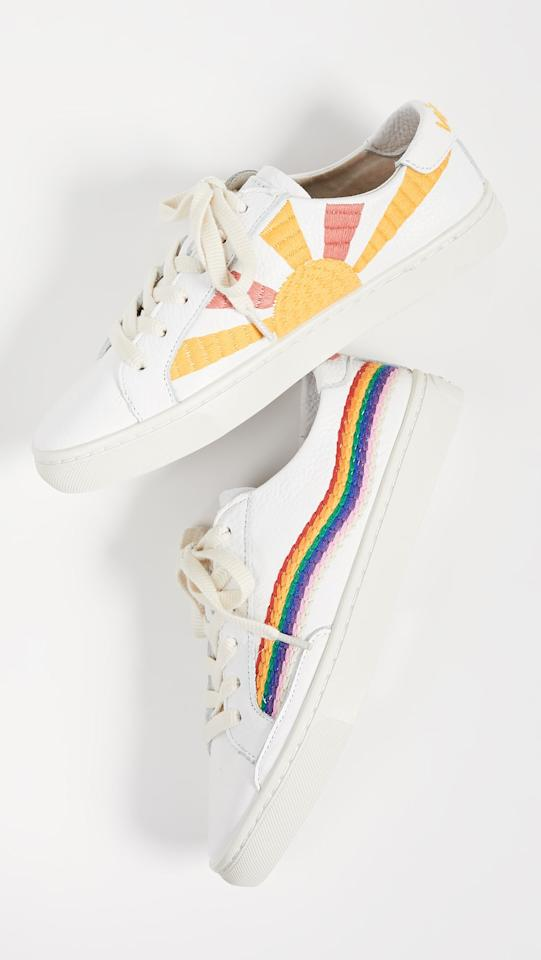 "<p>These <a href=""https://www.popsugar.com/buy/Soludos-Rainbow-Wave-Sneakers-537030?p_name=Soludos%20Rainbow%20Wave%20Sneakers&retailer=shopbop.com&pid=537030&price=139&evar1=fab%3Aus&evar9=45820599&evar98=https%3A%2F%2Fwww.popsugar.com%2Ffashion%2Fphoto-gallery%2F45820599%2Fimage%2F47065810%2FSoludos-Rainbow-Wave-Sneakers&list1=shopping%2Cshoes%2Csneakers&prop13=mobile&pdata=1"" rel=""nofollow"" data-shoppable-link=""1"" target=""_blank"" class=""ga-track"" data-ga-category=""Related"" data-ga-label=""https://www.shopbop.com/rainbow-wave-sneakers-soludos/vp/v=1/1510232734.htm?folderID=13439&amp;fm=other-shopbysize-viewall&amp;os=false&amp;colorId=12397&amp;ref=SB_PLP_NB_81"" data-ga-action=""In-Line Links"">Soludos Rainbow Wave Sneakers</a> ($139) will put a smile on your face.</p>"