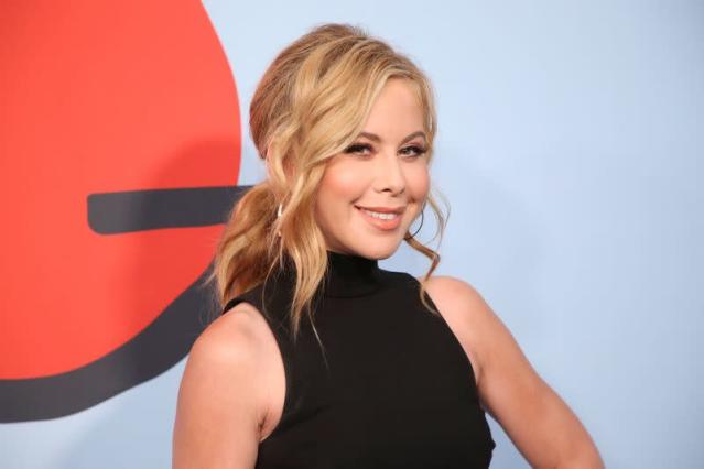 """Figure skater Tara Lipinski poses at the premiere of Showtime's """"Kidding"""" at the Arclight Hollywood in Los Angeles,"""