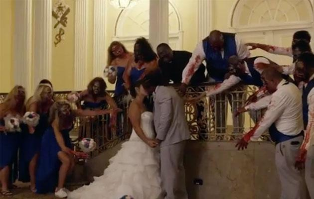 The bride and groom's special day planned out exactly how they wanted it to. Photo: YouTube