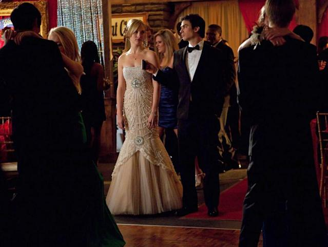 """Pictures of You"" -- Candice Accola as Caroline and Ian Somerhalder as Damon"