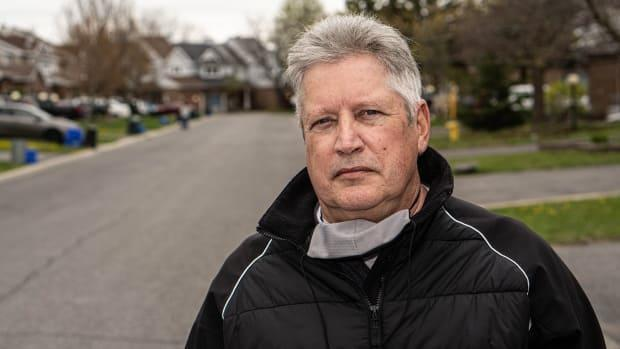 Donald O'Connor, a Barrhaven resident for 20 years, said Woodroffe Avenue has become a 'racetrack.'  (Jean Delisle/CBC - image credit)