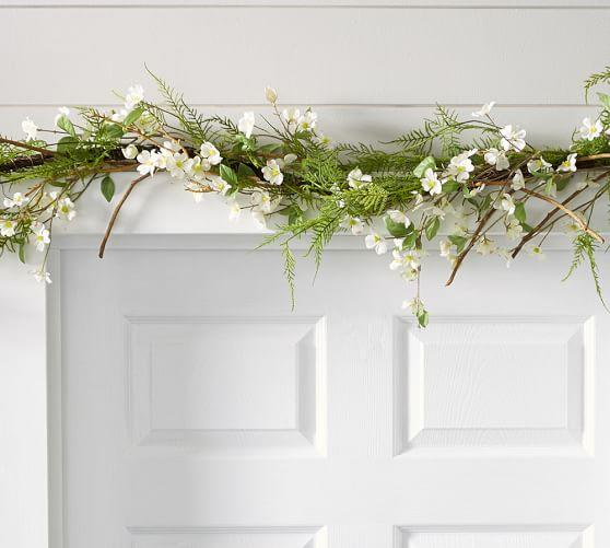 "<p><strong></strong></p><p>potterybarn.com</p><p><strong>$79.00</strong></p><p><a rel=""nofollow"" href=""https://www.potterybarn.com/products/faux-fern-dogwood-garland/?pkey=e%7Ceaster%7C69%7Cbest%7C0%7C2%7C48%7C%7C11&cm_src=PRODUCTSEARCH"">Shop Now</a></p><p>With branches blooming dogwood blossoms and ferns, this faux botanical garland captures the look of spring and can be stored to use again each year!</p>"