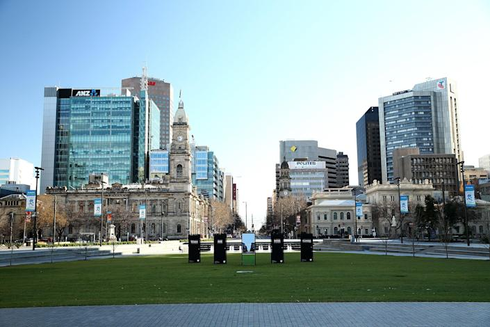 A view of central Adelaide, the city which is home to the University of South Australia.  (Getty Images)