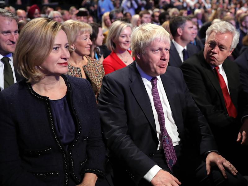Rudd, Johnson and Davis are all tipped to be future leaders of the Tories: Getty