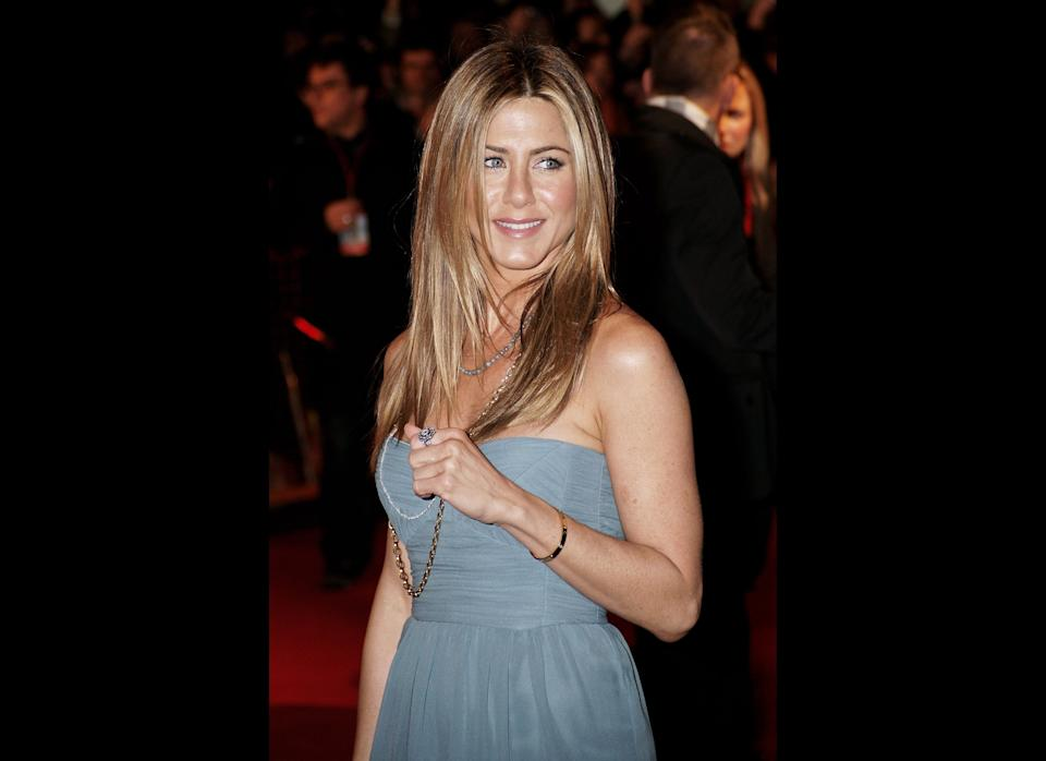 LONDON - MARCH 02:  (UK TABLOID NEWSPAPERS OUT) Actor Jennifer Aniston attends the UK premiere of 'Marley And Me' held at The Vue Cinema, Leicester Square on March 2, 2009 in London, England.  (Photo by Dave Hogan/Getty Images)