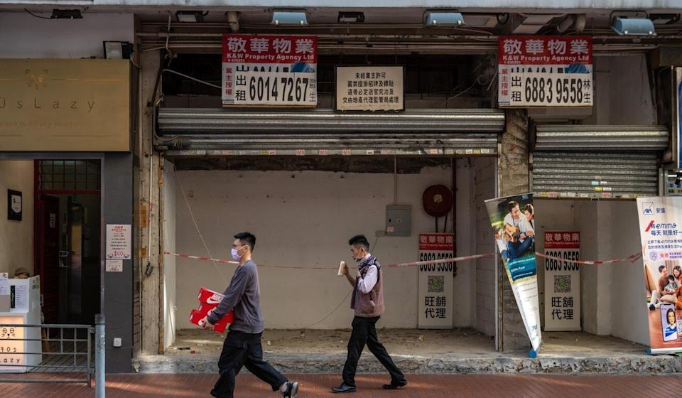 A lack of tourists has taken a major toll on Hong Kong's retailers. Photo: Bloomberg