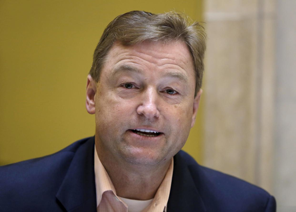 Sen. Dean Heller (R-Nev.)&nbsp;has said he can&rsquo;t envision himself voting for Trump at this time. &ldquo;I&rsquo;ll give him a chance, but at this point, I have no intentions of voting for him,&rdquo; he&nbsp;<span>said</span>&nbsp;in June.&nbsp;(REUTERS/Enrique de la Osa)