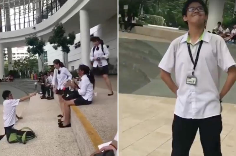 ITE student wins hearts in viral Valentine's rose video