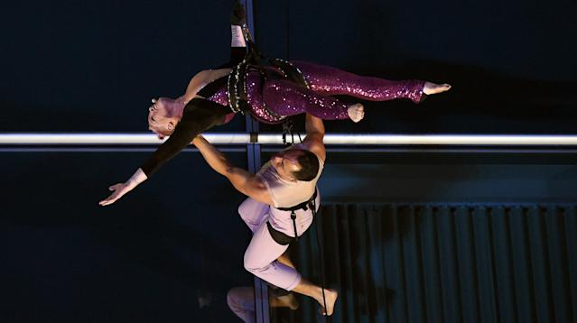 Pink took her career to new heights on Sunday night by scaling a building during her American Music Awards performance.