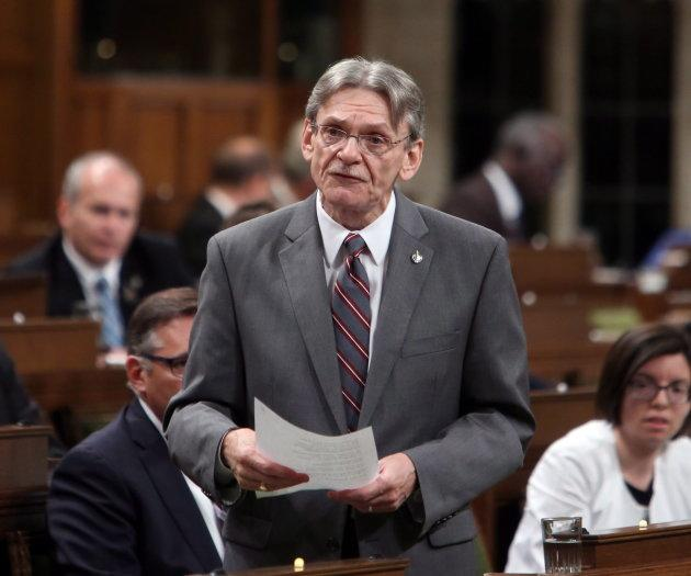 NDP MP David Christopherson stands in the House of Commons on June 5, 2015.