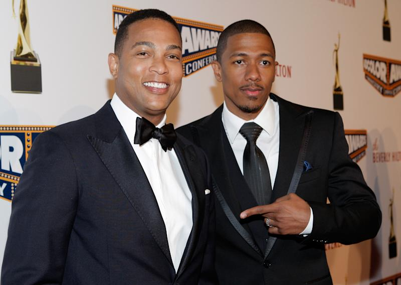 BEVERLY HILLS, CA - SEPTEMBER 21: Journalist Don Lemon and actor Nick Cannon attend the ADCOLOR Awards at The Beverly Hilton Hotel on September 21, 2013 in Beverly Hills, California. (Photo by Mike Windle/Getty Images for AdColor)