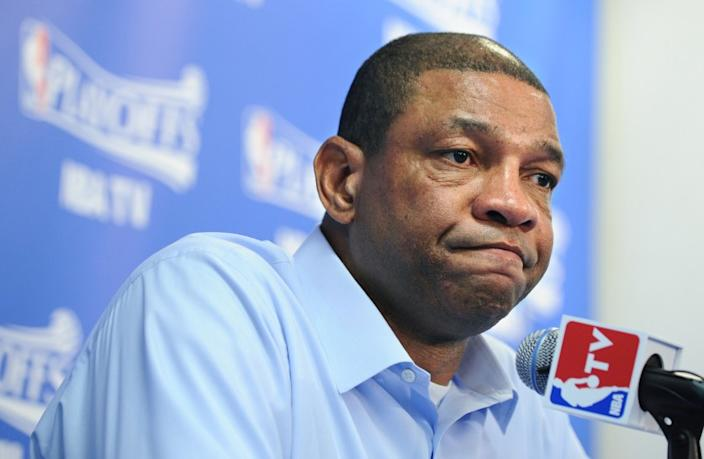 Clippers Coach Doc Rivers, above, might resign if Donald Sterling remains the team's owner, interim CEO Dick Parsons testified Tuesday.
