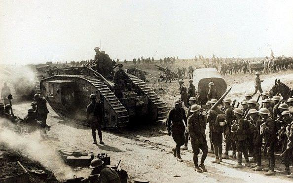 A British Mark IV tank in service on the Western Front - Paul Popper