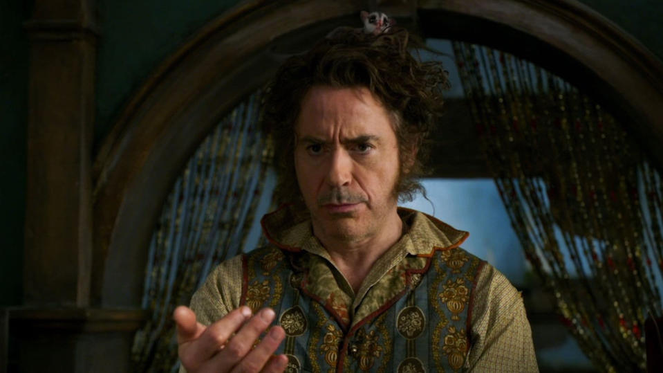 Robert Downey Jr. played the title role in the new take on 'Dolittle'. (Credit: Universal)