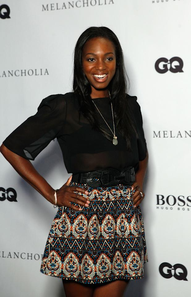 TORONTO, ON - SEPTEMBER 10:  Actress Enuka Okuma attends Hugo Boss / GQ Party at The 2011 Toronto International Film Festival at Hugo Boss Store on September 10, 2011 in Toronto, Canada.  (Photo by Peter Bregg/Getty Images for Hugo Boss)
