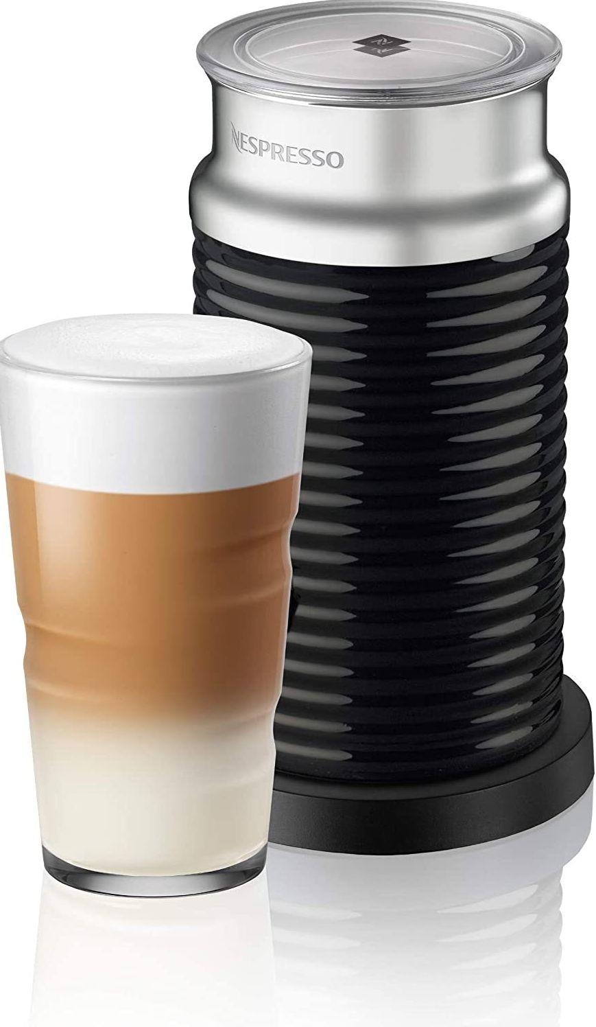 """For those whoprefer to sip on something a bit decadent after rolling out of bed.<br /><br /><strong>Promising review:</strong>""""Bravo Nespresso! I can't rave enough about this item. The simplest and best milk frother I have aver seen.<strong>Our lattes and cappuccinos are simply fantastic now with the heated, frothed milk from this machine.</strong>I have an expensive Jura coffee maker and it does hot, frothed milk well but not as easy to use or as well frothed as this thing. I can make only the amount of milk I need with this, where I would have a big bulky stainless-steel canister on the counter all day for the Jura with milk I would never get to use so would throw away. Well worth the price if you like perfectly frothed milk. Simple to use too! One of the best items I have ever purchased!"""" —<a href=""""https://www.amazon.com/dp/B06XHWQJKN?tag=huffpost-bfsyndication-20&ascsubtag=5817703%2C34%2C43%2Cd%2C0%2C0%2C0%2C962%3A1%3B901%3A2%3B900%3A2%3B974%3A3%3B975%3A2%3B982%3A2%2C16176011%2C0"""" target=""""_blank"""" rel=""""noopener noreferrer"""">Customer</a><br /><br /><strong>Get it from Amazon for <a href=""""https://www.amazon.com/dp/B06XHWQJKN?tag=huffpost-bfsyndication-20&ascsubtag=5817703%2C34%2C43%2Cd%2C0%2C0%2C0%2C962%3A1%3B901%3A2%3B900%3A2%3B974%3A3%3B975%3A2%3B982%3A2%2C16176011%2C0"""" target=""""_blank"""" rel=""""noopener noreferrer"""">$86.99</a>.</strong><a href=""""https://img.buzzfeed.com/buzzfeed-static/static/2020-11/17/17/asset/a9a3f8cd3397/sub-buzz-11400-1605634710-8.jpg"""" data-skimlinks-tracking=""""5817703""""></a>"""