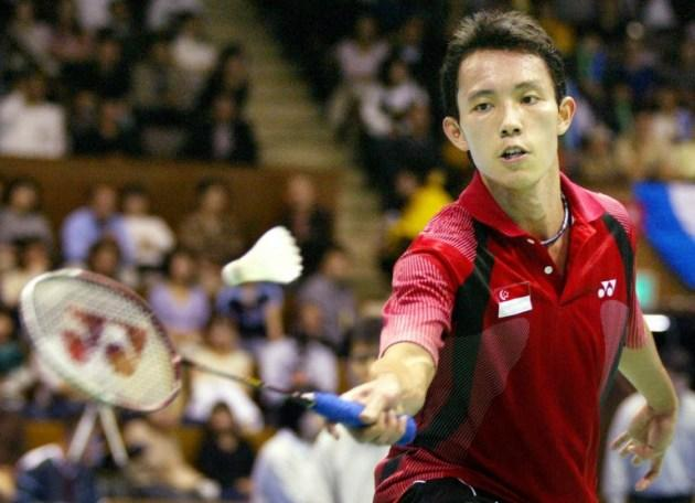 Singaporean badminton player Ronald Susilo returns a shuttle towards Park Tae-Sang of South Korea during their semi-final match of men's singles in the Japan Open badminton championships in 2004. Susilo beat Park by 13-15, 15-10, 15-11. (AFP PHOTO / TOSHIFUMI KITAMURA)