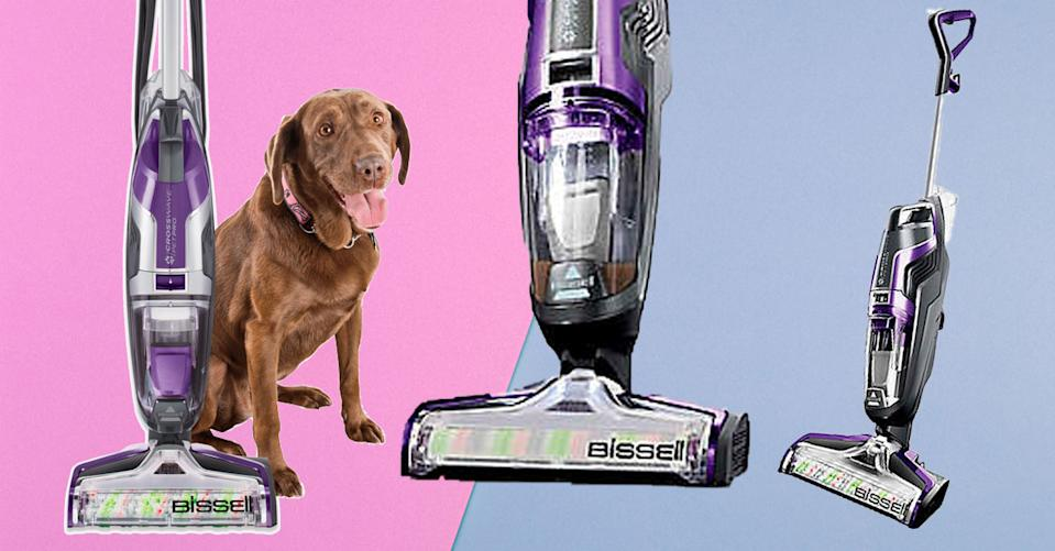 The Bissell CrossWave Pet Pro Plus All-in-One Wet Dry Vacuum Cleaner and Mop is a game-changer. (Photo: Bed Bath & Beyond/Getty)