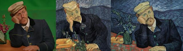 """Jerome Flynn as Dr. Gaschet. """"Dr. Paul Gachet was passionately involved with the bohemian world of the impressionist artists of Paris,"""" a description on the website for """"Loving Vincent"""" reads. """"He was a physician to many painters including Cezanne, and became van Gogh's doctor in Auvers-sur-oise after Vincent left the Saint Remy asylum, following a recommendation from Camille Pissarro to Vincent's brother Theo. Vincent lived in Auvers so he could be treated by Dr. Gachet from May 1890 until his death in July that year."""""""