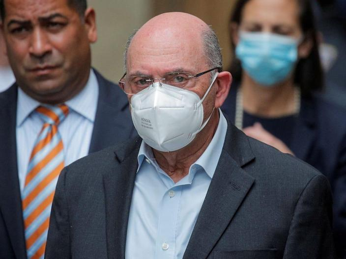 Trump Organization chief financial officer Allen Weisselberg exits after his arraignment hearing in New York State Supreme Court in the Manhattan borough of New York City, New York, U.S., July 1, 2021.