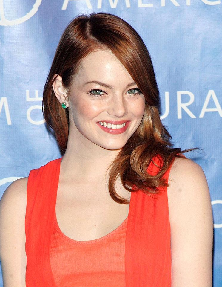 """Attention, Hollywood: women can be funny <i>and</i> beautiful. For proof, see Ms. Emma Stone's performances in movies like """"Easy A"""" and """"Crazy, Stupid, Love,"""" then marvel at the shiny, bouncy red locks that perfectly set off her porcelain complexion. (11/10/2011)"""