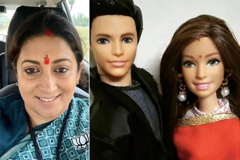 Check Out Smriti Irani's Hilarious Response on Erica Fernandes and Parth Samthaan's Dolls