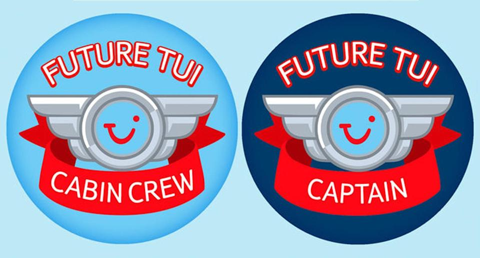A TUI airlines passenger claims that girls were given 'cabin crew' stickers while boys were given 'captain' stickers.