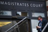 Britain's Crispin Odey at Hendon Magistrates' Court in London