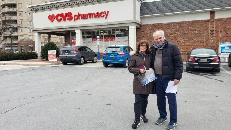 On a bitterly cold day in Bethesda, just outside the capital Washington, a steady stream of elderly citizens arrived for their first dose of Moderna's two-shot course at their local CVS pharmacy