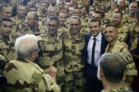 French President Emmanuel Macron visits French troops in Africa's Sahel region in Mali