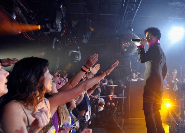 Prince performs as Samsung Galaxy presents Prince and A Tribe Called Quest at SXSW on March 16, 2013 in Austin, Texas.