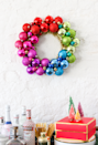 "<p><span>It's so obvious, we can't believe we didn't think of this first. An ornament wreath will instantly cheer up a lackluster wall. </span><span>Learn how to make yours from </span><a href=""https://thecraftedlife.com/diy-ornament-wreath/#more-14475"" rel=""nofollow noopener"" target=""_blank"" data-ylk=""slk:The Crafted Life"" class=""link rapid-noclick-resp"">The Crafted Life</a><span>.</span><br></p>"