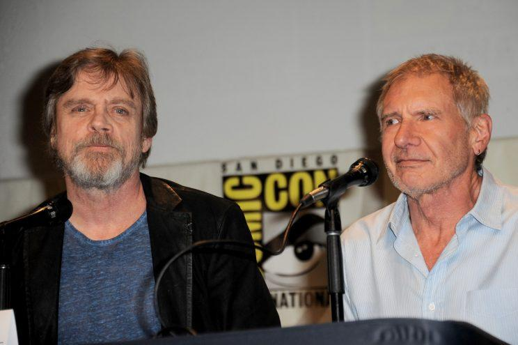 Mark Hamill's Harrison Ford impression is pretty good. (Photo: Albert L. Ortega/Getty Images)