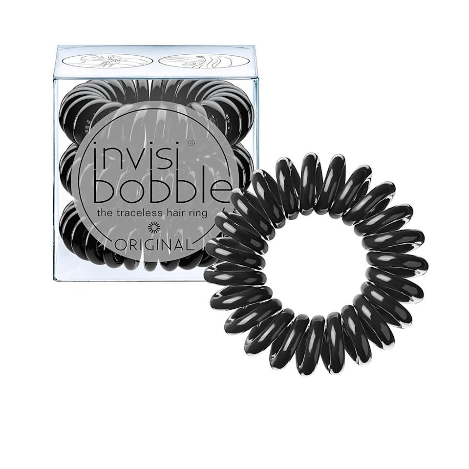 """<p><strong>invisibobble</strong></p><p>amazon.com</p><p><strong>$6.00</strong></p><p><a href=""""https://www.amazon.com/dp/B01CD73RNE?tag=syn-yahoo-20&ascsubtag=%5Bartid%7C2089.g.291%5Bsrc%7Cyahoo-us"""" rel=""""nofollow noopener"""" target=""""_blank"""" data-ylk=""""slk:Shop Now"""" class=""""link rapid-noclick-resp"""">Shop Now</a></p><p>Help her <a href=""""https://www.bestproducts.com/beauty/g581/best-hair-dryers-and-blow-dryers/"""" rel=""""nofollow noopener"""" target=""""_blank"""" data-ylk=""""slk:maintain her luscious mane"""" class=""""link rapid-noclick-resp"""">maintain her luscious mane</a> with a <a href=""""https://www.bestproducts.com/beauty/a30244054/invisibobble-hair-ties-review/"""" rel=""""nofollow noopener"""" target=""""_blank"""" data-ylk=""""slk:trio of traceless hair ties"""" class=""""link rapid-noclick-resp"""">trio of traceless hair ties</a> that won't slip on silky strands, tangle on thicker trestles, or leave harsh marks long after she lets down her 'do.<br></p>"""