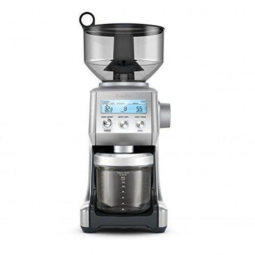 "<p><strong>Breville</strong></p><p>amazon.com</p><p><strong>$199.95</strong></p><p><a href=""https://www.amazon.com/dp/B00OXGXW8O?tag=syn-yahoo-20&ascsubtag=%5Bartid%7C10055.g.30986295%5Bsrc%7Cyahoo-us"" rel=""nofollow noopener"" target=""_blank"" data-ylk=""slk:Shop Now"" class=""link rapid-noclick-resp"">Shop Now</a></p><p>The Breville Smart Grinder Pro is designed beautifully for the most picky espresso and coffee drinkers, including pour over! It features 60 grind settings that produce some of the most even results we've seen. <strong>The finest setting produces powdery results that don't clump together, while the coarsest resembles the ground coffee you'd buy in a store. </strong></p><p>The grinder features a large, digital screen that allows you to effortlessly select the grind size, cup amount, and grind time. From there, if you prefer a stronger or lighter cup, you can adjust the grind time even further based on your preference. The grounds grind directly into a hard, plastic container with cup markings for espresso, drip, and French press coffee. The container also features a cover for the hole in the lid in case you don't use all the ground coffee at once. </p><p>The most unique feature of this grinder is its attachment for portafilters. For the non-espresso making buffs, that means you can grind the coffee directly into the filter y0u use in your espresso machine. So long, measuring and filling with a spoon. </p><p><strong>Coffee bean capacity:</strong> 1 pound<strong><br></strong><strong>Grind settings:</strong> 60<strong><br></strong><strong>Cup settings:</strong> 1 to 8 espresso shots, 1 to 12 coffee cups</p>"