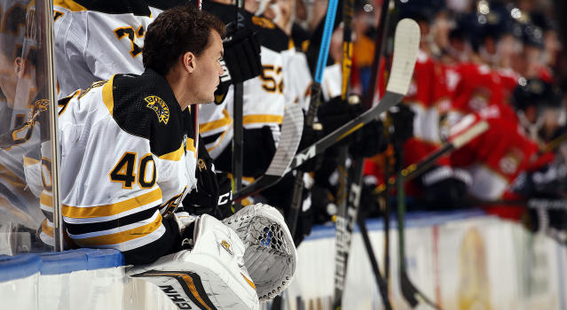 Although he'll only be 34 after next season, Tuukka Rask of the Boston Bruins recently hinted he may hang his pads up when that time comes. (Eliot J. Schechter/NHLI via Getty Images)