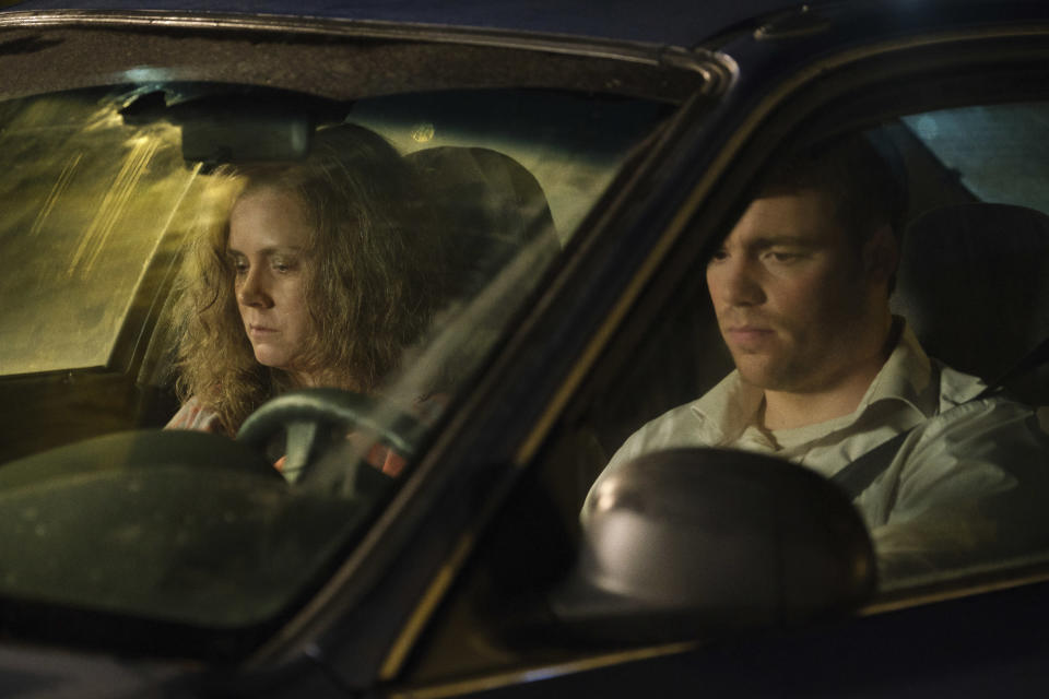 "This image released by Netflix shows Amy Adams, left, and Gabriel Basso in a scene from ""Hillbilly Elegy."" (Lacey Terrell/Netflix via AP)"