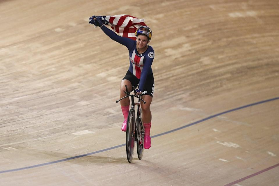 """<p><strong>Sport:</strong> Cycling (track and road race)<br> <strong>Country:</strong> USA</p> <p>Dygert is doing some incredible things on the bike. She <a href=""""https://www.popsugar.com/fitness/chloe-dygert-breaks-3-cycling-world-records-47271981"""" class=""""link rapid-noclick-resp"""" rel=""""nofollow noopener"""" target=""""_blank"""" data-ylk=""""slk:broke an individual pursuit world record"""">broke an individual pursuit world record</a> <em>twice</em> at last year's World Championships and has already punched her ticket to Tokyo in road racing after winning the world title in road time trial. A <a href=""""https://www.teamusa.org/usa-cycling/athletes/Chloe-Dygert"""" class=""""link rapid-noclick-resp"""" rel=""""nofollow noopener"""" target=""""_blank"""" data-ylk=""""slk:six-time world champion"""">six-time world champion</a>, Dygert is at the top of the field in her events, and she's known for giving her all-out effort in every race, sometimes to the point of <a href=""""https://www.youtube.com/watch?v=pTVNR02fp54"""" class=""""link rapid-noclick-resp"""" rel=""""nofollow noopener"""" target=""""_blank"""" data-ylk=""""slk:collapsing at the finish line"""">collapsing at the finish line</a>. We're predicting this dominant cyclist will take Tokyo by storm.</p>"""