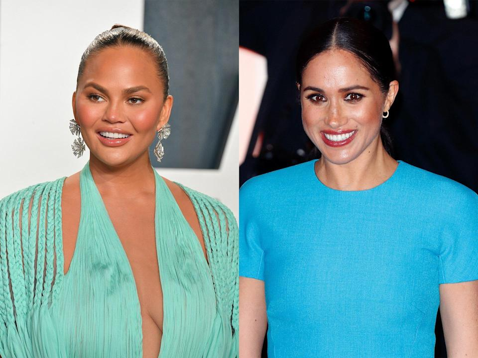 Chrissy Teigen and Meghan Markle