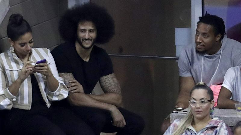 Kaepernick receives warm reception at U.S. Open