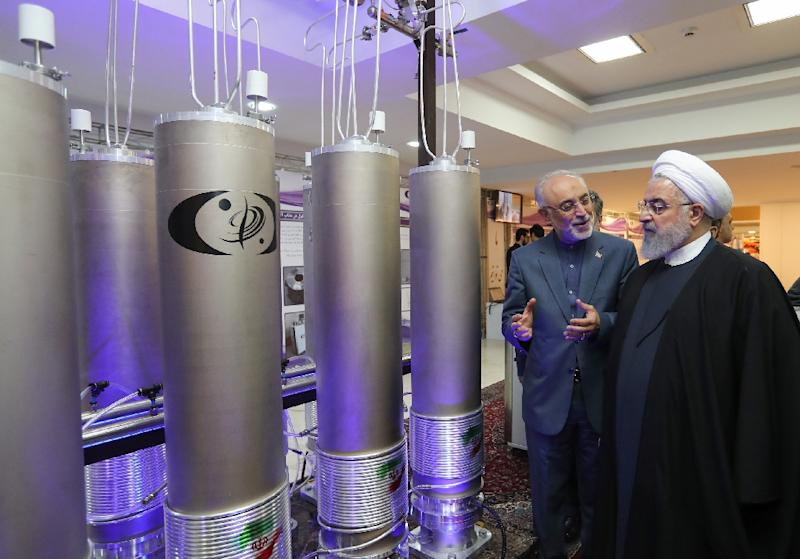 Iran's President Hassan Rouhani says a landmark 2015 nuclear deal needs 'surgery' to rescue it from his US counterpart Donald Trump's determination to scrap it (AFP Photo/HO)